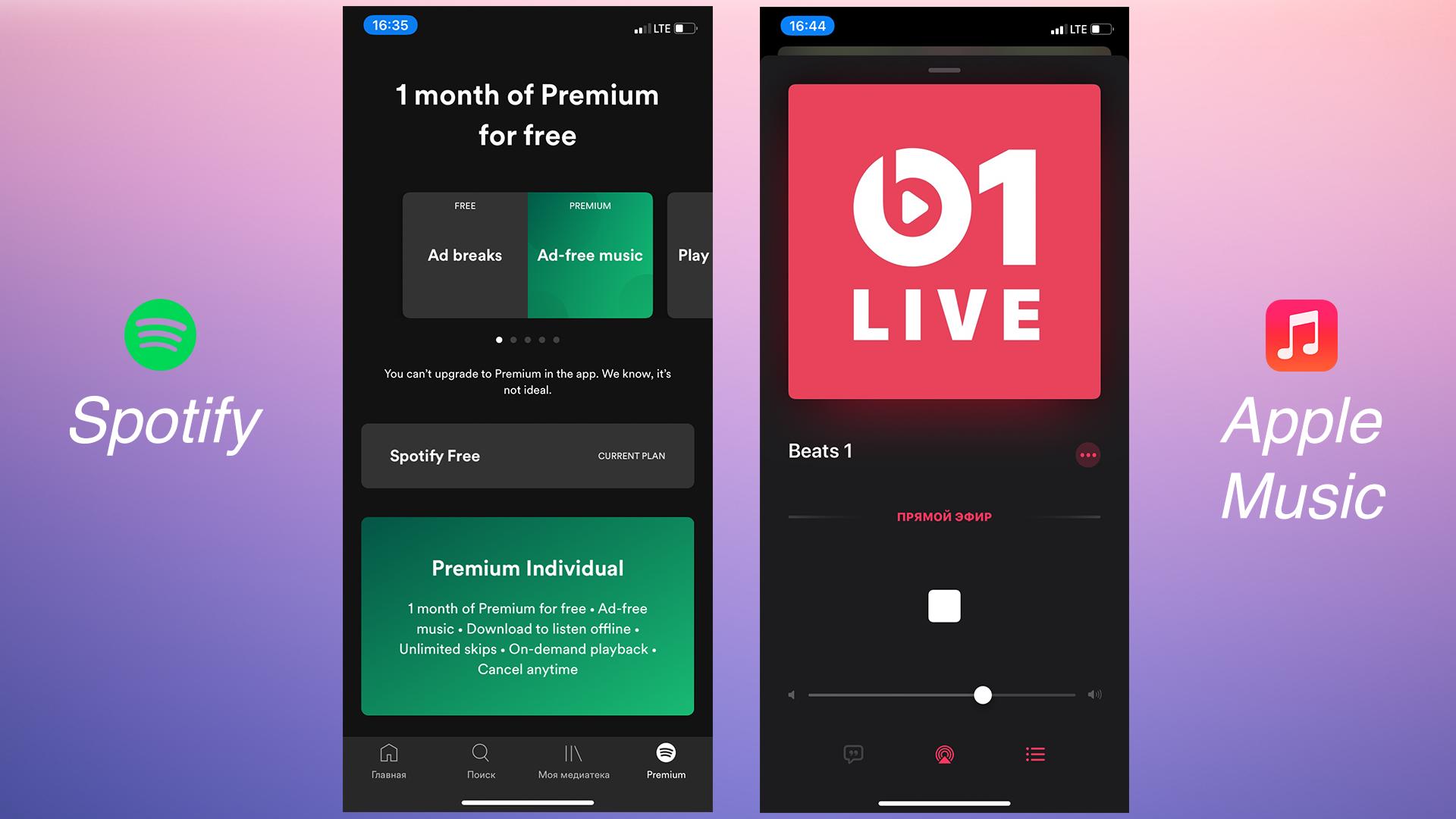 Бесплатаня подписка Spotify и Beats1 Radio