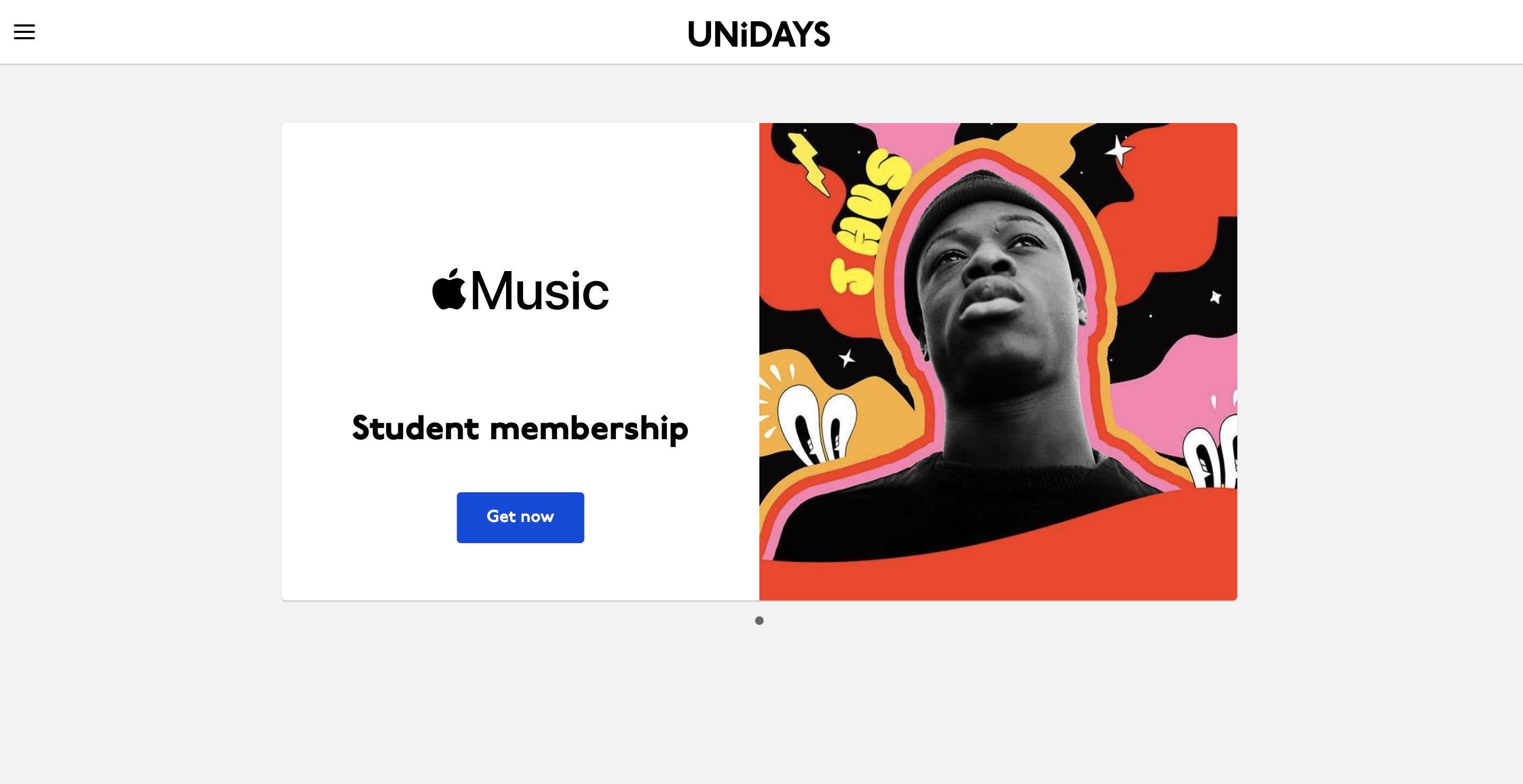 Студенческая подписка Unidays