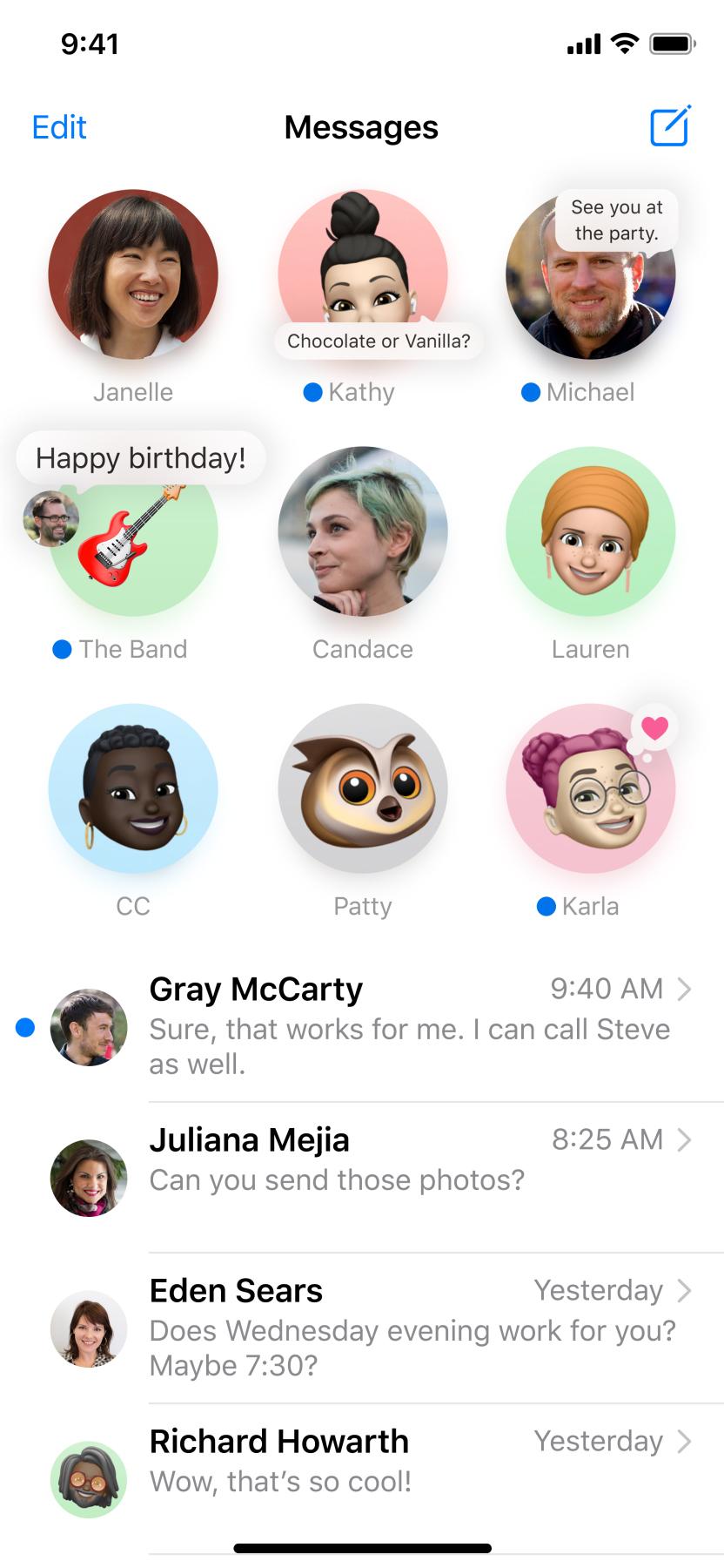 Сообщения в iOS 14