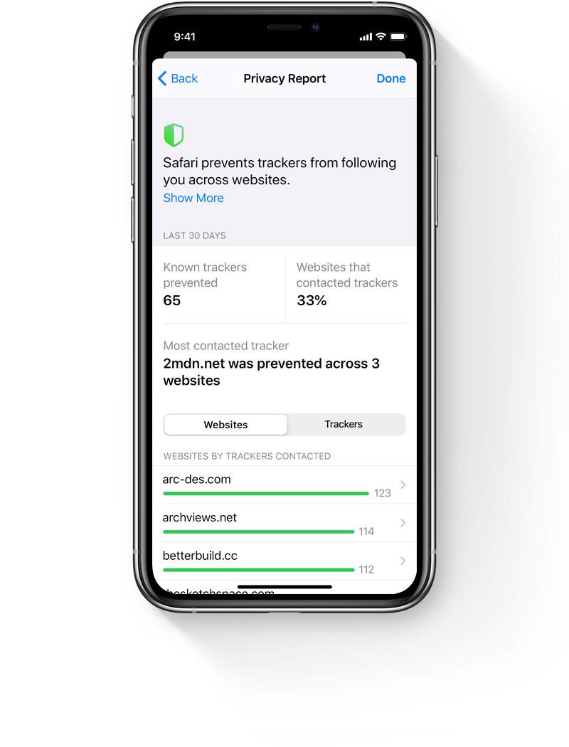Приватность в Safari iOS 14