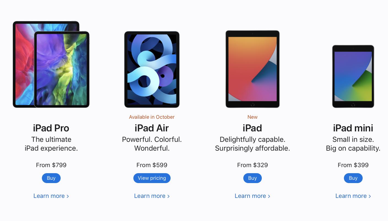Цена на новый iPad